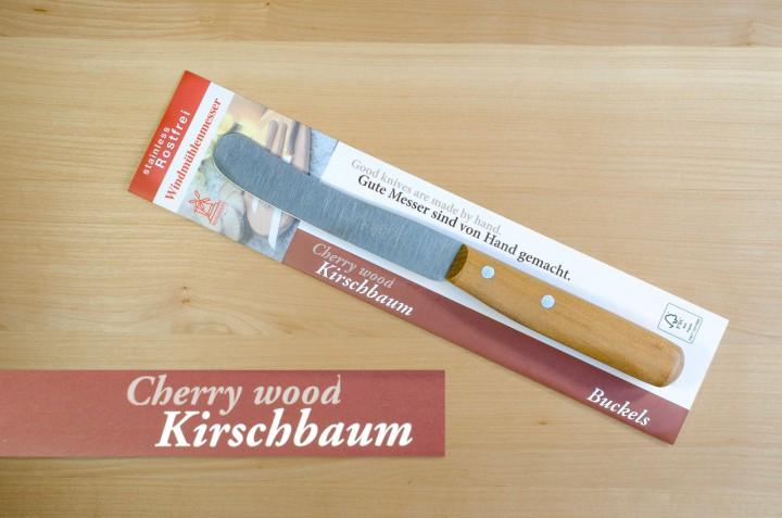 Windmühlenmesser mit Kirschbaumgriff