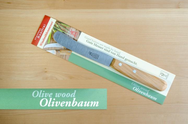 Windmühlenmesser mit Olivenbaumgriff