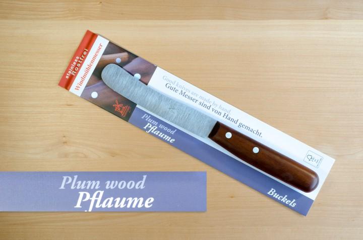 Windmühlenmesser mit Pflaumenbaumgriff