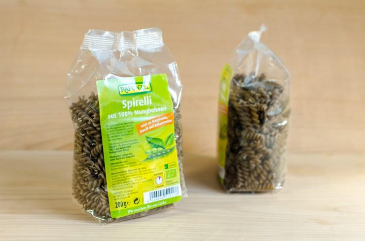 Glutenfreie Spirelli aus 100% Mungbohnen 200g